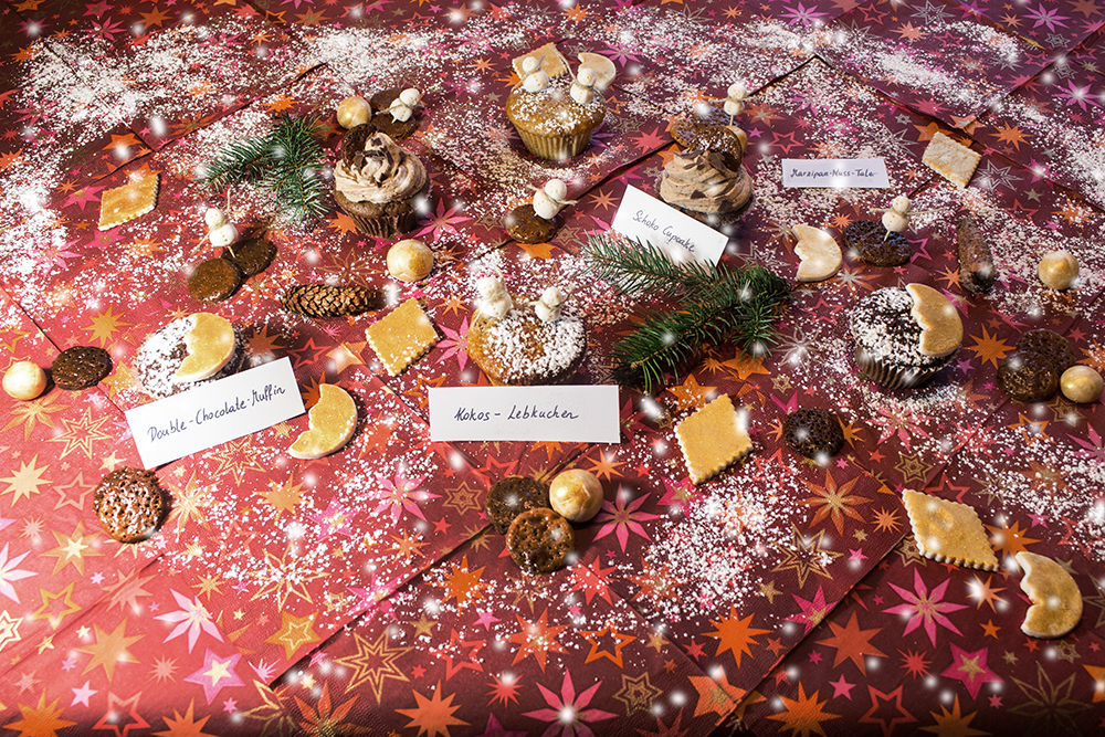 Schneelandschaft auf dem Küchentisch – Ein weihnachtliches Muffin-Cupcake-Buffet