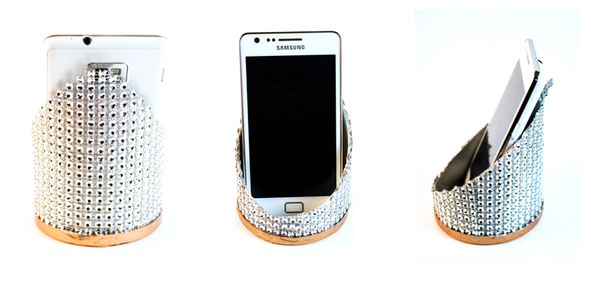 Bling-Bling Handyhalter aus Chipsdosen basteln