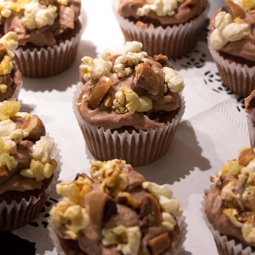 Popcorn Karamell Cupcakes