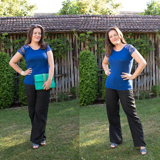 Blue Lace Shirt I