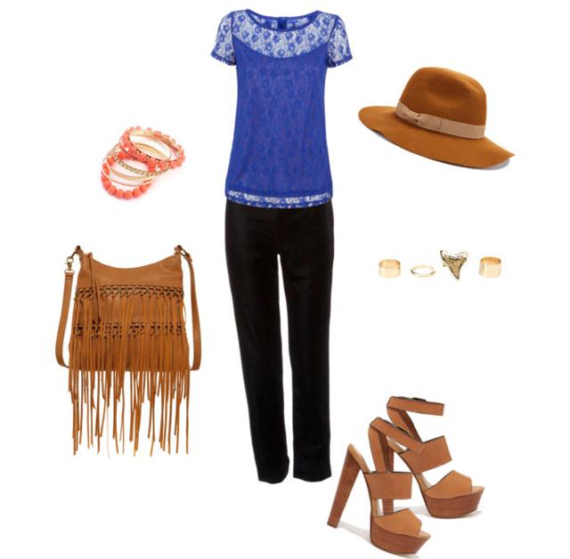 Boho Blue Lace
