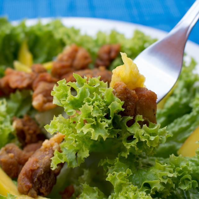 Crispy Chicken Mango Salad