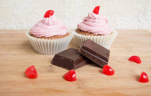 Zartrosa Zucchini Cupcake