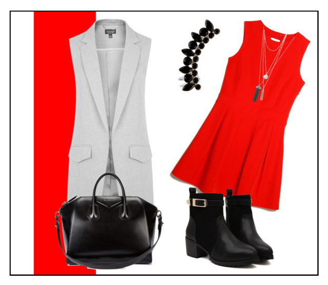 Red Dress Style IV