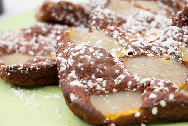 Leichter Schoko-Birnenkuchen