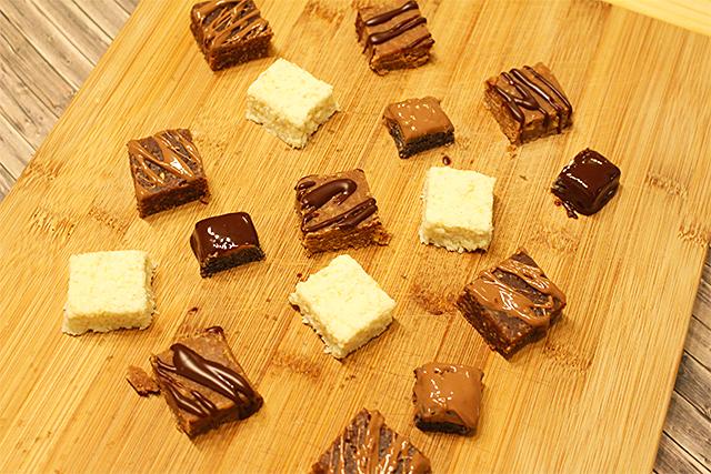 Mohn-, Erdnussbutter-, Kokos- und Kakao Bites