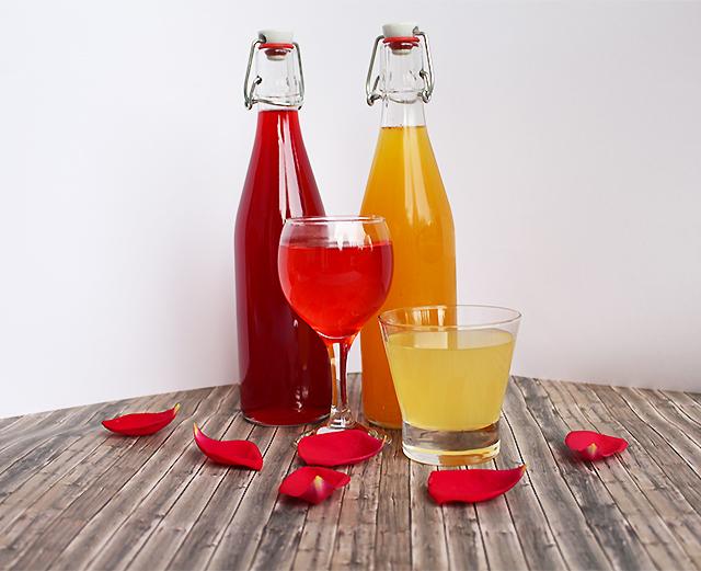 Beeren und Orangensirup