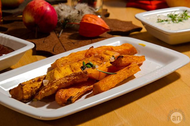Gastrezept – Süßkartoffelsticks mit Dip