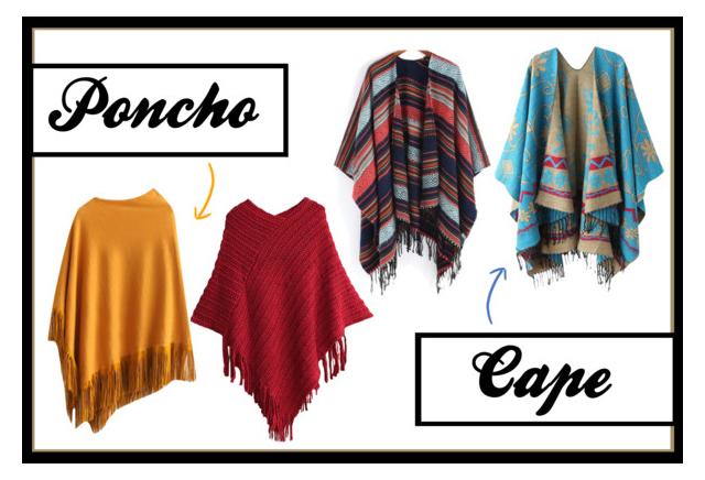 Poncho und Cape – Was ist eigentlich der Unterschied