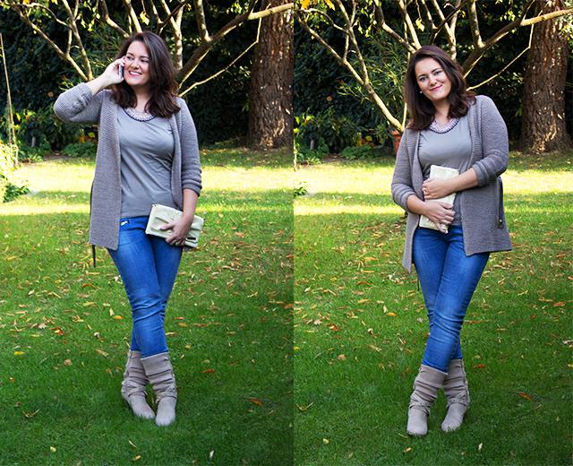 Blue Denim, Longsleeve und Cardigan – Warm eingepackt in den Herbst!