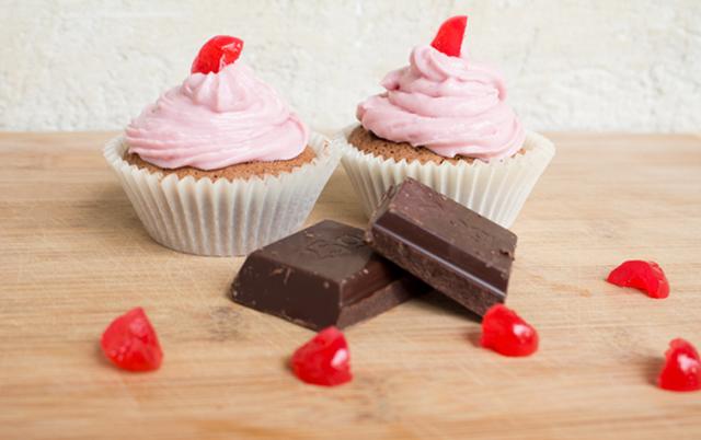 Zartrosa-Zucchini-Cupcake