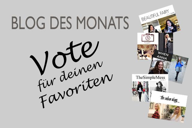 Blog des Monats – Vote für deinen Favoriten
