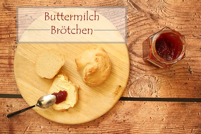 Buttermilch Brötchen zum Frühstück