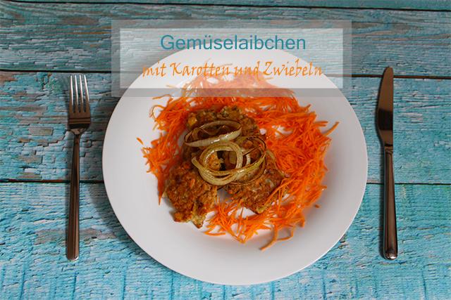 Gemüselaibchen mit Karotten und Zwiebeln