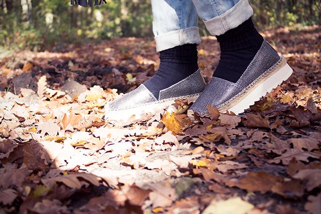 Espadrilles im Herbst
