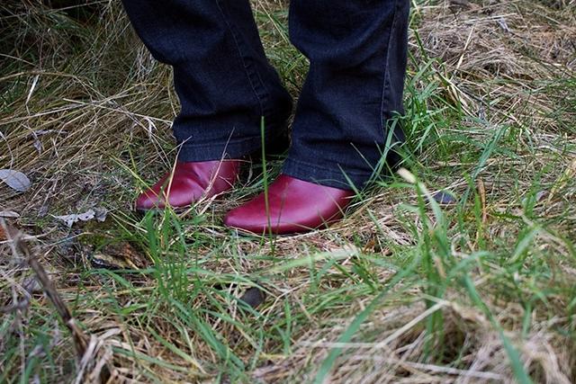Red Boots Black Denim
