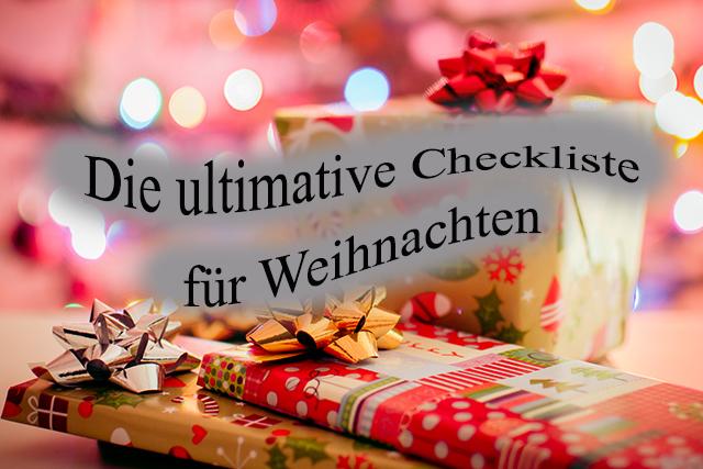 Checkliste für Weihnachten