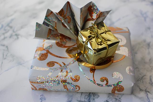 Geschenkkarte verpackt