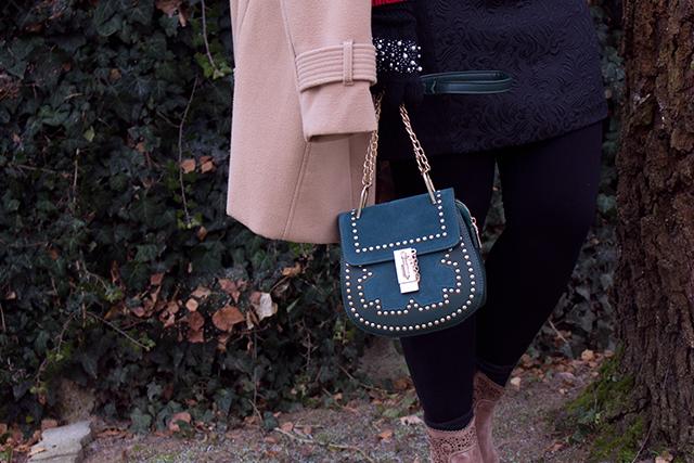 Glamour Tasche mit Goldelementen