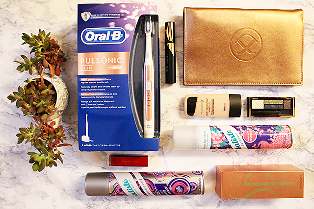 Dezember Goodie Bag Verlosung Nr 3 – elegante Clutch, Make Up Set und Pflegeprodukte*