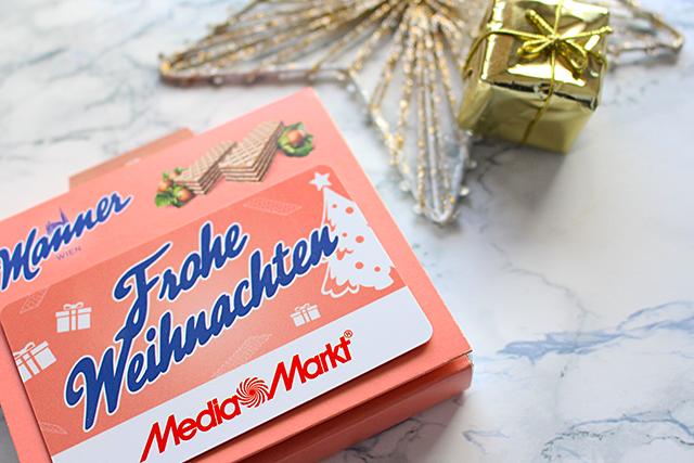 Media Markt Geschenkkarte mit Manner Schnitten
