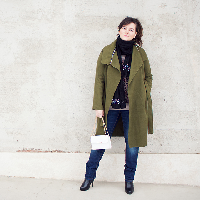 Green Coat Outfit