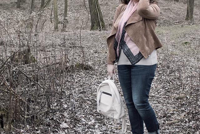 Denim, Backpack, Fake Leather Jacket