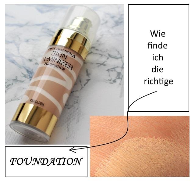Make-Up – Wie finde ich die richtige Foundation