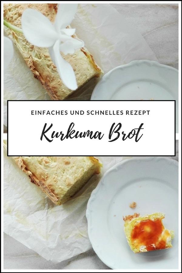 Selbstgebackenes Brot – Basisrezept Kurkumabrot und drei Geschmacksrichtungen