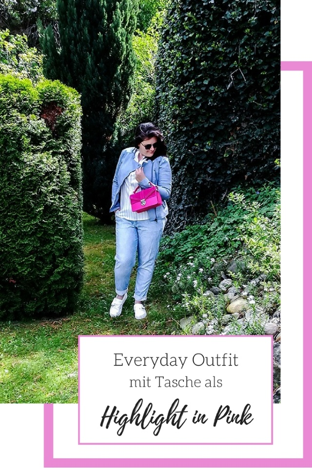 Spring Everyday Outfit mit Tasche als Highlight in Pink