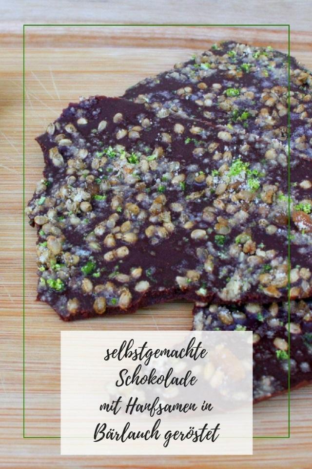 Food Battle: Selbstgemachte Schokolade mit Hanfsamen in Bärlauch geröstet
