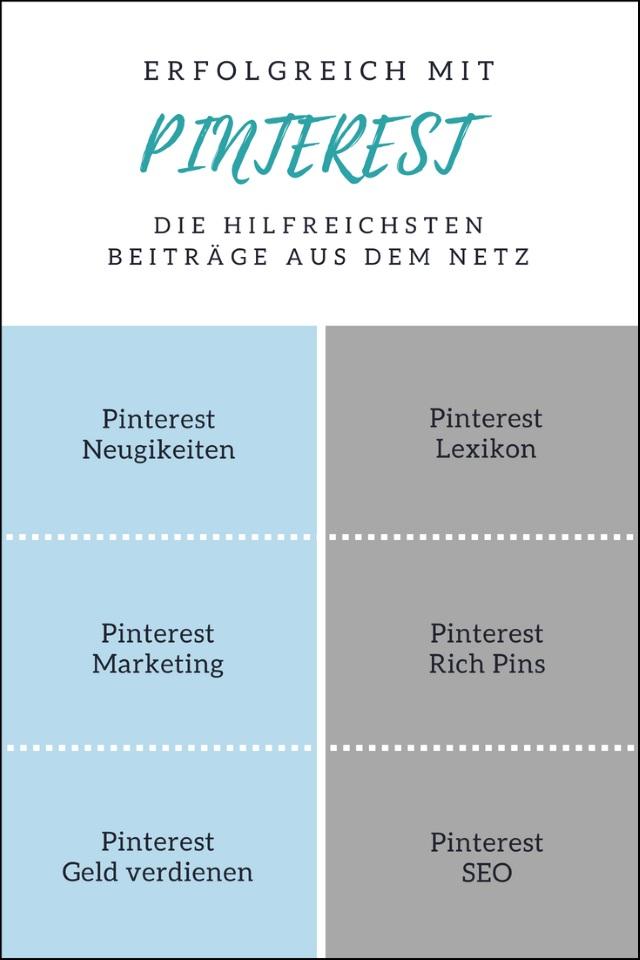 Erfolgreich mit Pinterest – die hilfreichsten Beiträge aus dem Netz