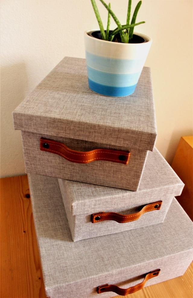 Ordnung schaffen mit Aufbewahrungsboxen