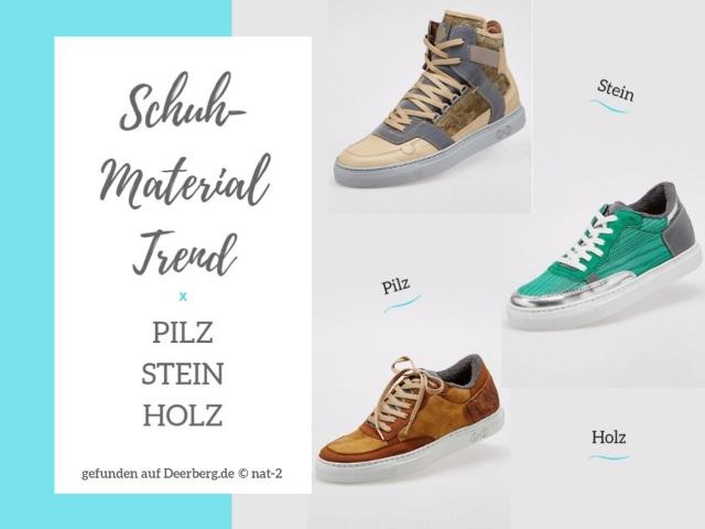 Stein, Holz, Pilz – Die neuen Schuh-Material Trends