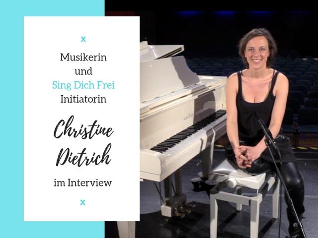 Musikerin und Sing dich frei-Kongress Initiatorin Christine Dietrich im Karriere Talk