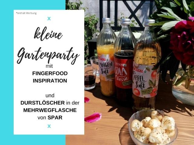 Kleine Gartenparty inkl. Fingerfood Inspiration und Durstlöscher in der Mehrwegflasche