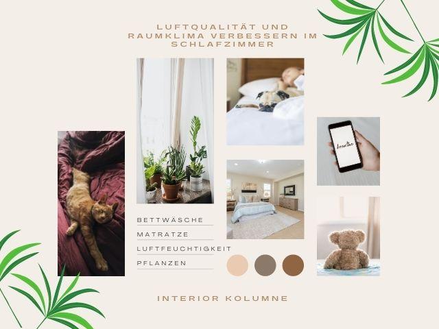 Luftqualität und Raumklima verbessern im Schlafzimmer
