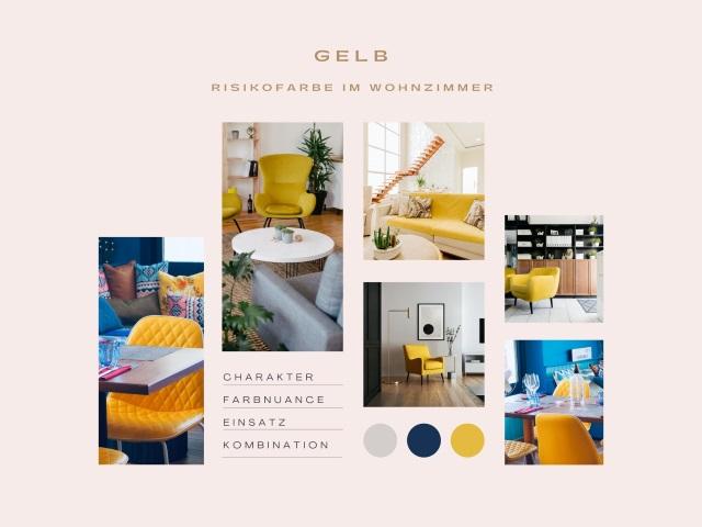Gelb – Risikofarbe im Wohnzimmer