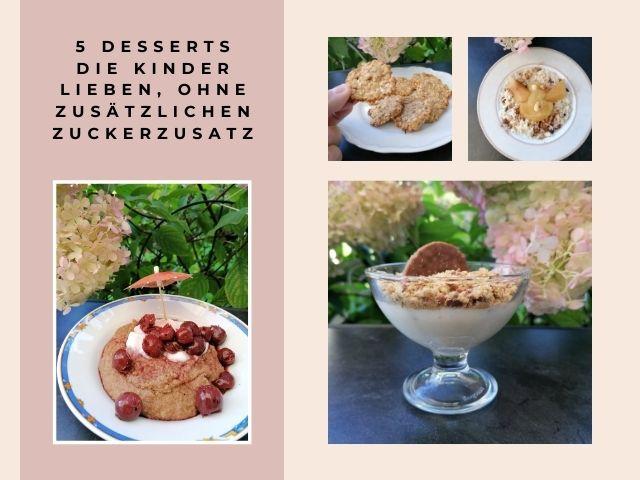 5 Desserts ohne Zuckerzusatz, die auch Kinder lieben